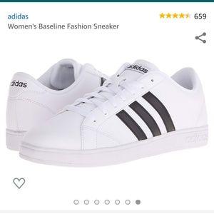 Adidas Art Aw4409 White Sneakers Black Stripe 8.5